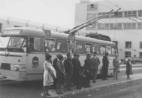 Trolly lijn 1 stationsplein 1967