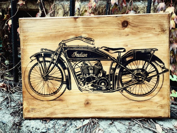 Excited to share the latest addition to my #etsy shop: Indian Powerplus Chief Scout Motorcycle Wooden Picture Home Decor Wall Decor Garage Artork