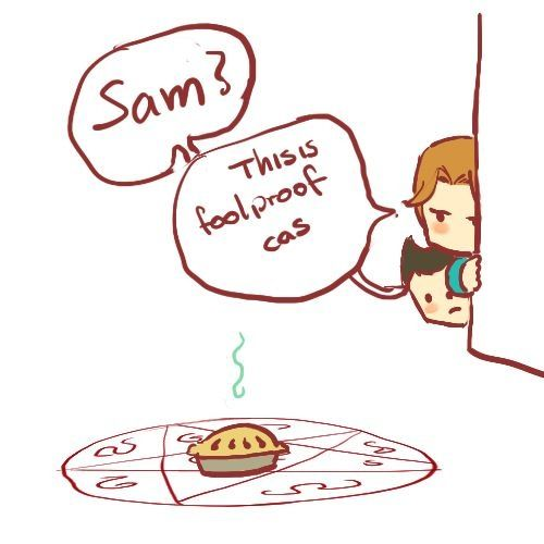 Supernatural fanart.  How to catch a Dean-on...
