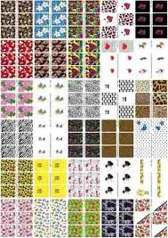 Resultado de imagem para desenhos para adesivos de unhas para imprimir