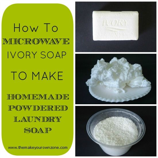 How to microwave a bar of Ivory soap instead of grating it for homemade laundry soap recipes