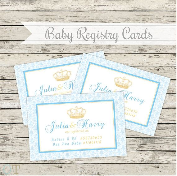 baby shower registry cards matching invitations available royal baby