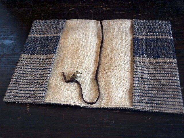 手織り布の文庫本ブックカバーの画像3枚目