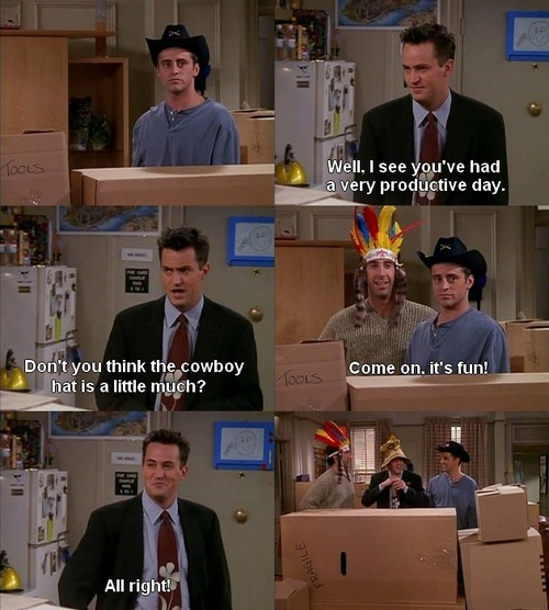 Friends Quotes Tv One Liners: Hello Fellow F.r.i.e.n.d.s