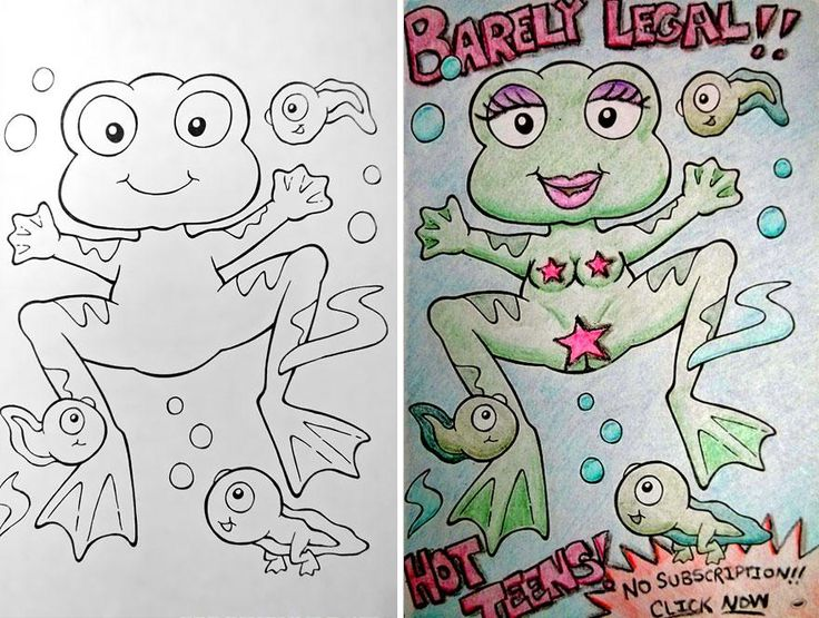 Funny children coloring book corruptions 24