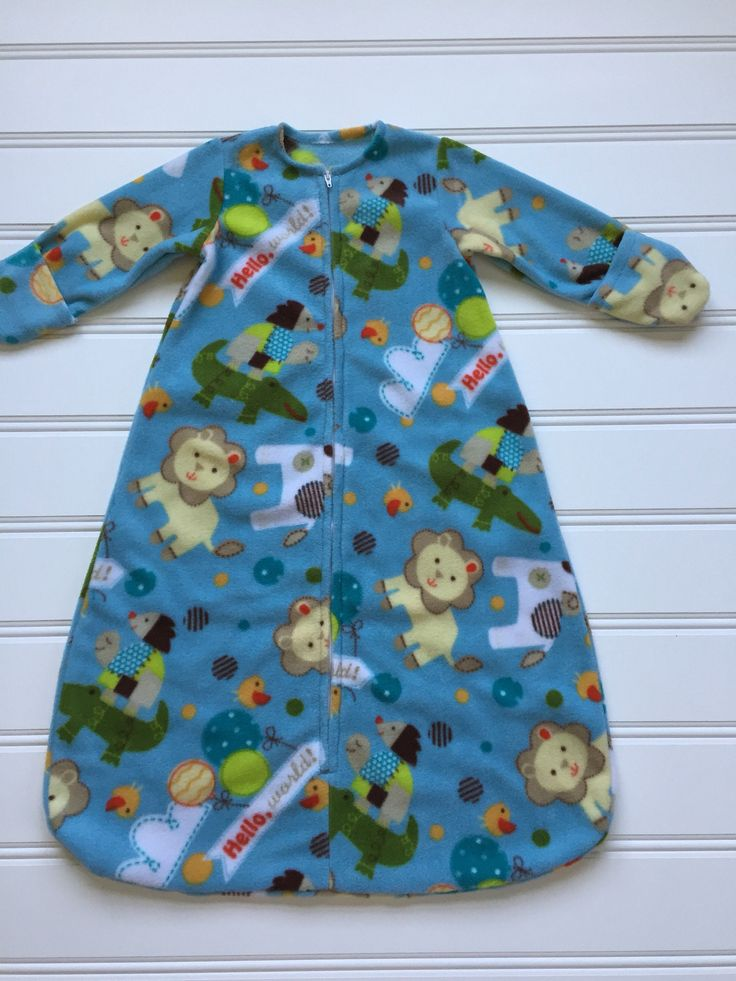 A personal favorite from my Etsy shop https://www.etsy.com/listing/534176043/blue-baby-sleep-sack-baby-sleeping-bag