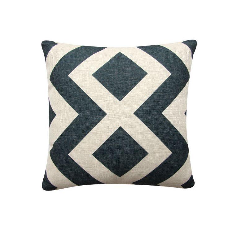 "Scandinavian Geometric Pillow Cover, 18""x 18"" Decorative Pillow, Diamond Cushion Cover,  Minimalist Cushion Charcoal Cushion 309 by BeadandReel on Etsy https://www.etsy.com/listing/278174448/scandinavian-geometric-pillow-cover-18x"
