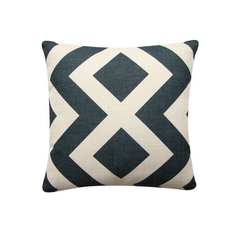 "Scandinavian Geometric Pillow Cover, 18""x 18"" Decorative Pillow, Diamond Cushion Cover,  Minimalist Cushion Charcoal Cushion 309 by BeadandReel on Etsy https://www.etsy.com/listing/278174448/scandinavian-geometric-pillow-cover-18x"