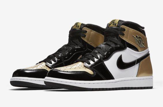 Official Images Air Jordan 1 Retro High Og Gold Toe Air Jordans