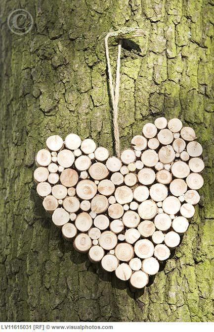 srdce z dreva