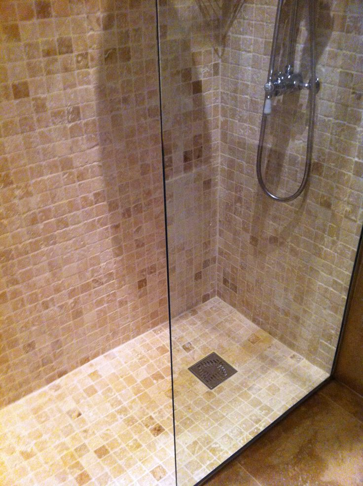20 best images about travertine wet room stone gallery on for Wet room mosaic floor tiles
