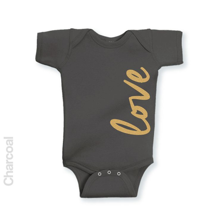 Love - Gold Glitter - Infant Onesie | One-Piece Bodysuit | Baby Clothes | Also On Etsy