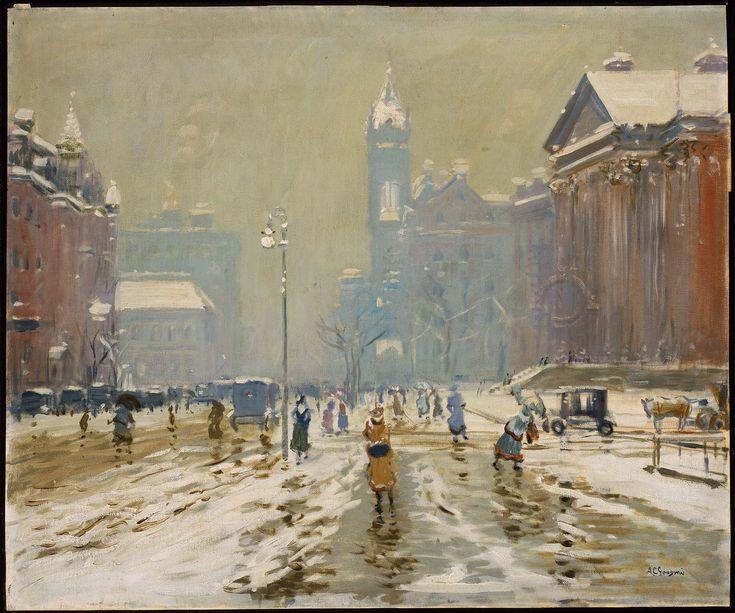 Copley Square, Boston, ca. 1908. Arthur Clifton Goodwin. Museum of Fine Arts, Boston