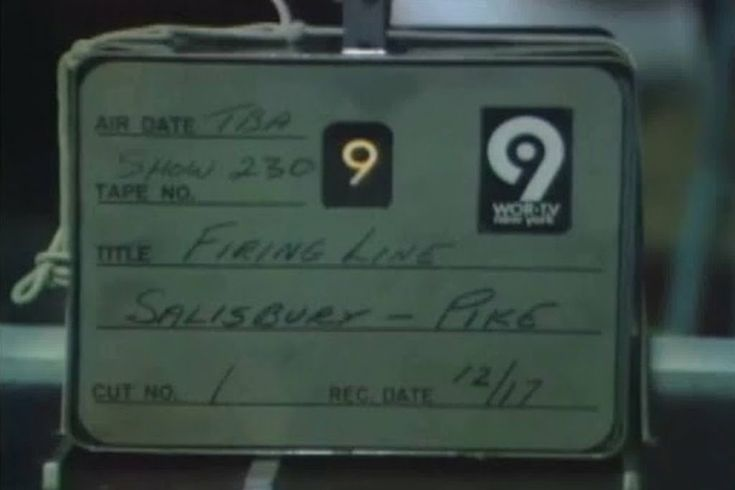 "December, 1970-taped ""Firing Line"" show, hosted by W.F. B'ckly, Jr., WOR-TV (Ch. 9), N.Y. City, N.Y."