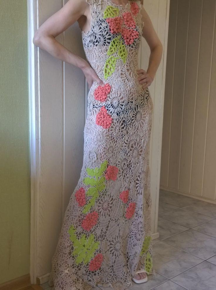 Kleid Strick Haken. Irische Spitze. von kruchek auf Etsy
