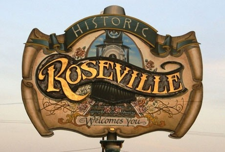 Signage for Roseville, California  Northern California in Placer County