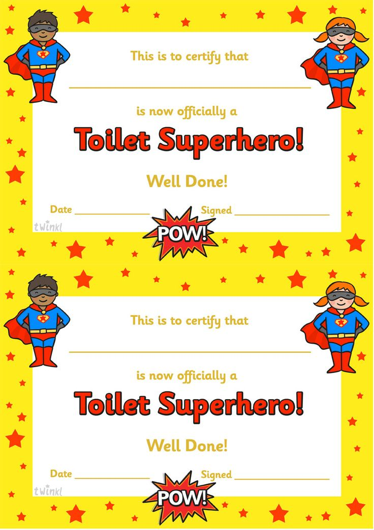 twinkl resources gtgt toilet superhero certificate