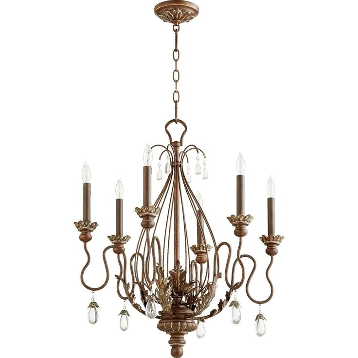 Quorum International Venice Cage Family 6 Light Transitional Chandelier