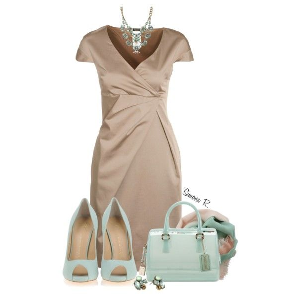 """Mint & Nude"" by simona-risi on Polyvore"