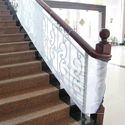 TinyGuards Stairs Protect Safety Net For Indoor and Outdoor Usage, Baby Safety Net For Balcony and Stairway; Adjustable net# Pet Safety Net#net for stairs#stair protector net#baby safety rail net#	banister net#stair safe rail#balcony railing safety net#safe railing#	stair safety net#children safety railing net#net guard rail#rail net#mesh cat gate#dog by rail#mesh cat gate,dog by rail#net baby gate#net safety gate#net for baby gate#safety net for gate#stair safety mesh#	kid safe deck guard