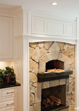 Classic White Kitchen with Pizza Oven