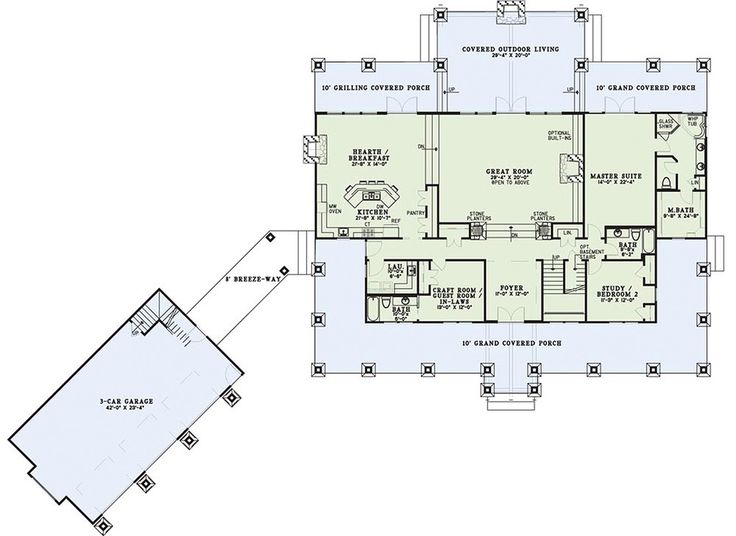 Love this open plan!! Plan #17-2398 - Houseplans.com