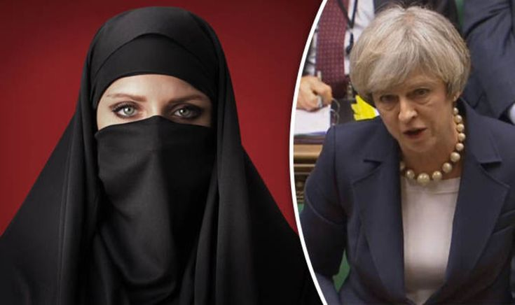 1 February 17 THERESA May today ruled out Britain following other European countries by introducing restrictions on Muslim face veils.