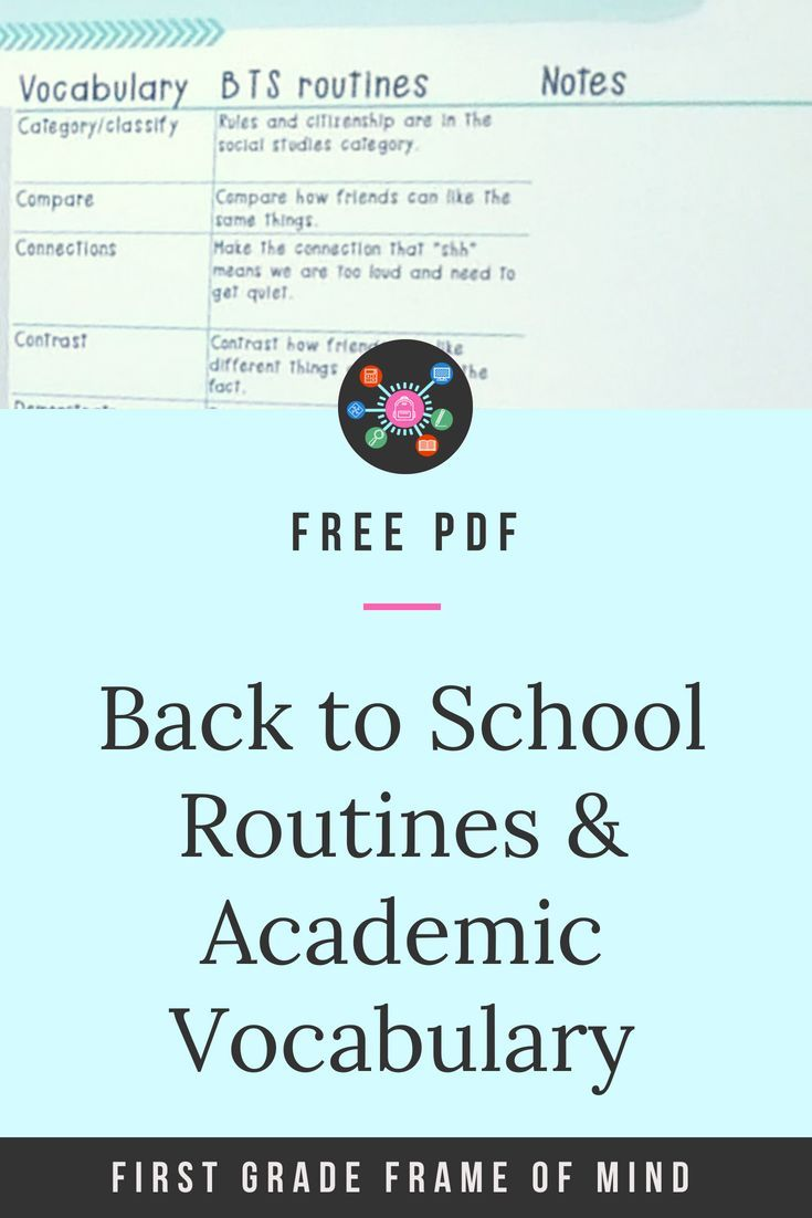 Back to school routines help sneak in those tier 2 academic ...