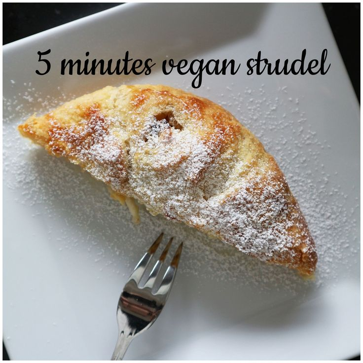 super easy, simple vegan strudel, fall, autumn, cinnamon, yummy, plant based, apple
