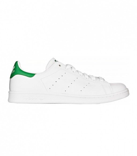Adidas Originals Stan Smith Leather Sneakers in White Leather