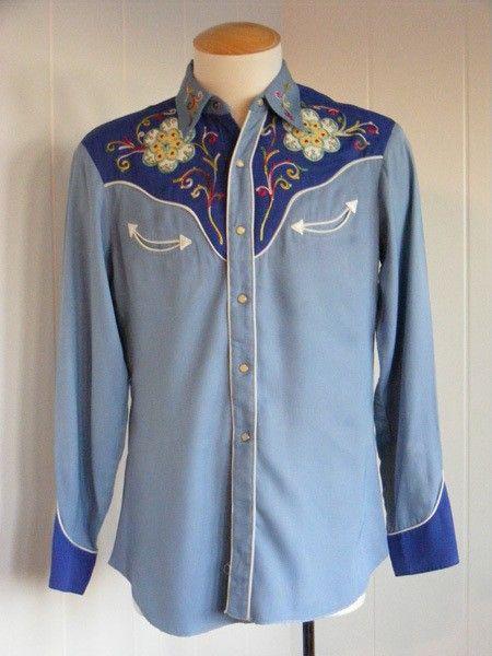 Vintage H Bar C Mens Western Shirt Western Shirts Pinterest