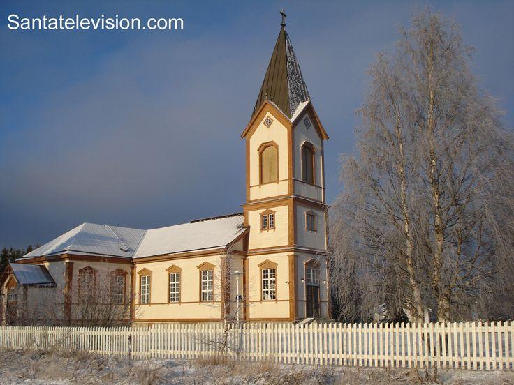 Chiesa di Kittilä in Lapponia in Finlandia