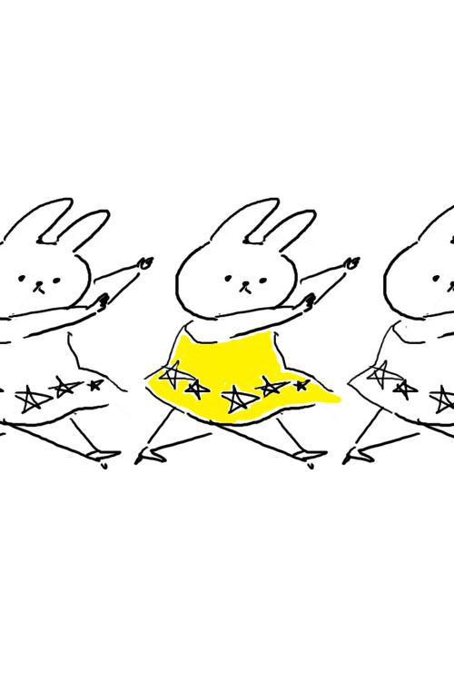 Dancing was never so adorable. ballet dancing easter bunnies cute card design