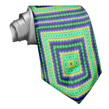 Squares abstract pattern ties
