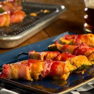 Darlington Pimento Cheese Stuffed Jalapenos with Candied Bacon in Shows on The Food Channel®