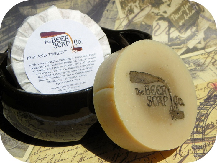 Ireland Tweed (TM) Beer Soap - Made with Yuengling Premium Lager. $6.75, via Etsy.