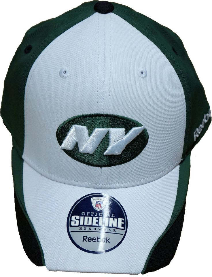 Now available at our srore: Reebok New York J... Check it out here !  http://closeoutkicks.com/products/reebok-new-york-jets-official-sideline-hat-flex-fit-green-white?utm_campaign=social_autopilot&utm_source=pin&utm_medium=pin