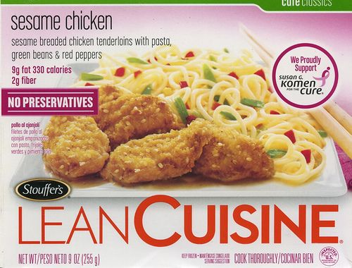 """I stock up on the Lean Cuisines that are under 300 calories... I like to know that I can """"run off"""" my dinner with a 3 mile run."""