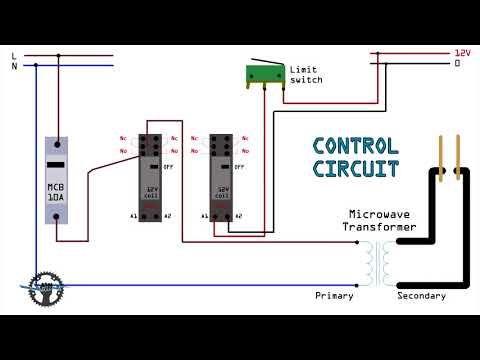 Circuit Diagram for DIY Battery Welder (Spot Welder Microwave Oven on