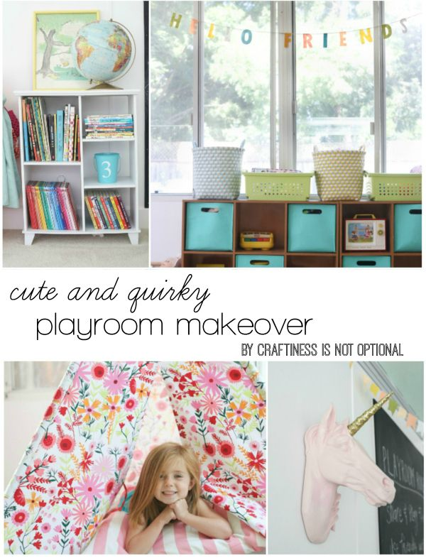 cute and quirky playroom makeover by craftiness is not optional