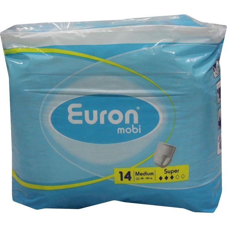 EURON MOBI super Windelhosen medium:   Packungsinhalt: 14 St PZN: 02526031 Hersteller: ONTEX NV Preis: 16,98 EUR inkl. 19 % MwSt. zzgl.…