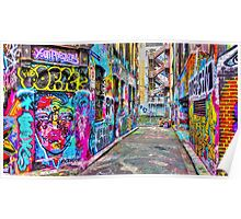 Hanging Out in the Colourful Rutledge Lane Poster