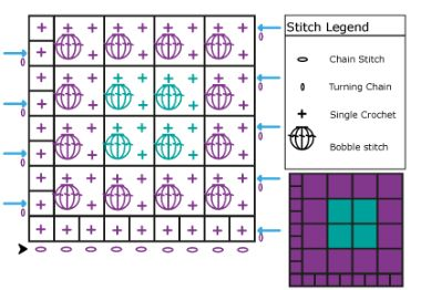 Tutorial - Bobble Stitch Graph Tutorial by HookinCrochet