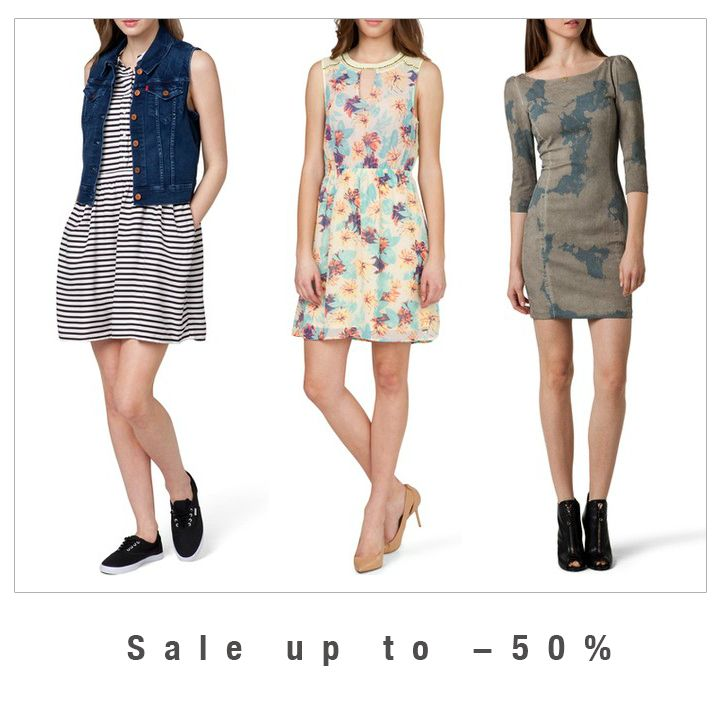 #Sale up to #50% #online #onlinestore #sale #dresses #dress #levis #pepejeans #guess #stripe #acqua #military