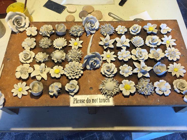 Bone china flowers