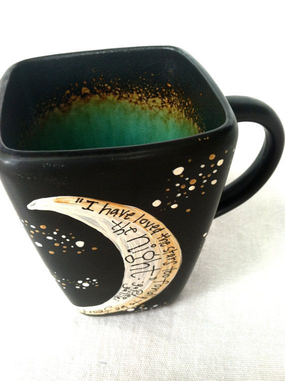 Complex Custom Mug: You choose the quote and design - Made to order. $25.00, via Etsy.