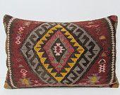 16x24 kilim pillow lumbar kilim floor pillow floor cushion cover tribal cushion primitive decor contemporary pillow floral pillow case 26963