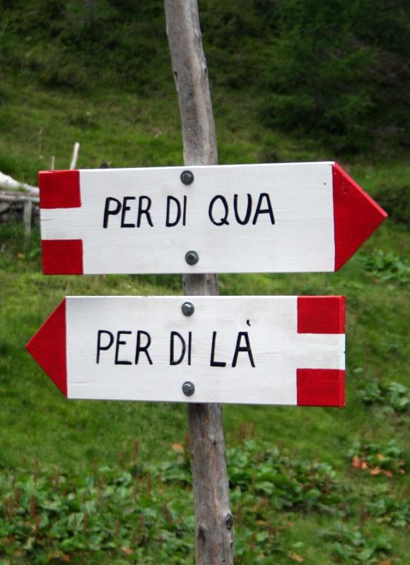 In montagna ogni direzione è perfetta! :-)  In every direction the mountains is perfect