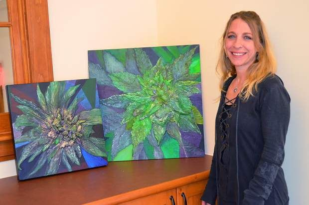 Cannabis art is the sort of thing you expect to see in a dorm or man cave, where psychedelic patterns and Cheech and Cho...
