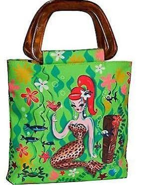 CRAFTY MERMAID AND FAIRY ARTISTS  Original design by Miss Fluff (Claudette Barjoud). Bag features tortoiseshell…